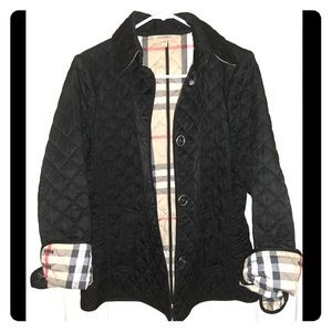 Burberry Ashhurst Quilted P Jacket In Black